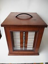 RARE MUSEUM DISPLAY CABINET NYC SPECIMEN CASE BECK CORNHILL LONDON WOOD GLASS