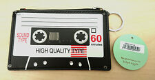 Cute Novelty Retro Cassette Tape Coin Purse With Key Ring PU Gift Christmas