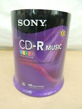 SONY 100 PACK CD-R MUSIC * NEW SEALED PACKAGE * BLANK MEDIA STORAGE