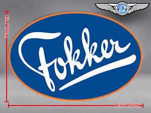 FOKKER OVAL LOGO DECAL / STICKER