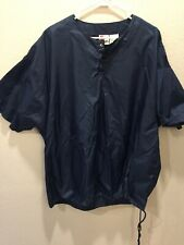 Vintage Rawlings Water Repellent Pullover Short Sleeve Size Xl Mesh Lined
