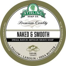 Stirling Soap Company Naked & Smooth Shave Soap 5.8 oz