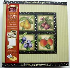 Fruit Squares Deluxe Recipe Binder * New Seasons 2012 Pages Cards Dividers NEW!