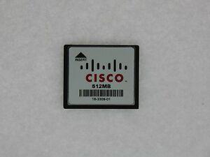 Véritable Cisco 512 MB Compact Flash Carte Mémoire 1841 2801 2811 2821 2851 3745