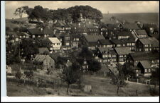 Schnett bei Eisfeld DDR Postkarte 1961 Teilansicht Häuser Wiesen Turm gelaufen