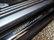 Chrome door step plates SUPERCHARGED Range Rover L322 tread sill cover chrome
