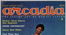 "MAGAZINE ""ARCADIA, n. 7"" (1966) NATURISME / CALIFORNIA / VINTAGE / JAYBIRD..."
