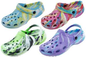 Women's Unisex Tie Dye Clogs Comfort Garden Nurses Clogs Water Outdoor Shoes