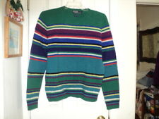 Polo Ralph Lauren 100% Wool Pullover  Sweater Size Large - Stripes
