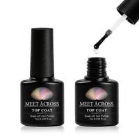 7ml No Wipe Top Coat Soak Off UV LED Nail Art Gel Polish Meet Across Manicure