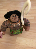 Disney Moana Movie Maui Fishhook Plush Stuffed Doll Character Toy