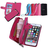 FAUX LEATHER ZIPPER CARD WALLET PURSE PHONE CASE COVER SKINS FOR IPHONE HONEST