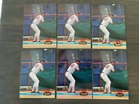 MINT LOT of 6 WADE BOGGS 1991 STADIUM CLUB BASEBALL CARDS #170 FAST SHIPPING!