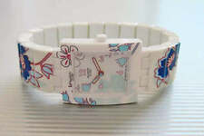 """CAGED HIBISCUS! Gorgeous Floral """"TILES"""" Square Swatch with FLEX Band! NIB-RARE!"""