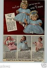 1966 PAPER AD Doll Ideal Mattel Thumbelina Baby Pattaburp Miss Peep Twin Vinyl