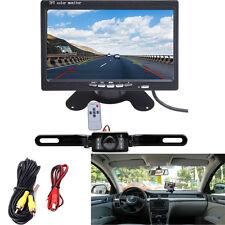 """Car 7"""" LCD Rear View Monitor Night Vision Reverse Backup Waterproof Camera kit"""