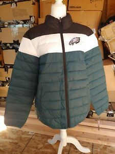 G-III Poly Quilt Jacket Philadelphia eagles Mens size L large polyfill coat