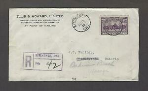 Canada 1936 13 Cent Domestic Registered Cover #224 Pictorial Iss., Oakview Beach
