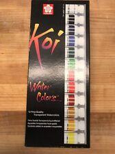 Sakura Koi 12 Color Watercolor Set, 12 ml. Tubes