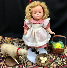 1930s BETTY-FACE Doll - TIN EYES Early Madame Alexander Unmarked Composition Vtg