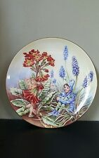 Border Fine Arts Collectable Fairy Plate Polyanthus