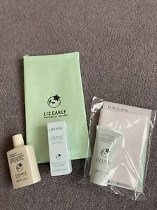 LIZ EARLE 3 Travel Mini Eye Lotion Cleanse & Polish Cloth Skin Repair Cream BNWT