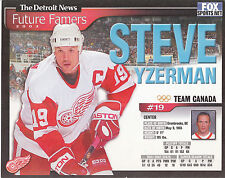 STEVE YZERMAN 2001/02 The Detroit News RED WINGS 8x10 STANLEY CUP Collector Card