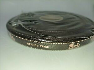 Hermes Ribbon Roll 50m 54 Yards Made in France Brown w/ Pink Kelly Caleche Logo