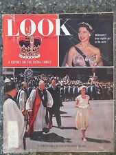 1955 Look Magazine April 19  Queen Elizabeth  VINTAGE ADS  Princess Margaret