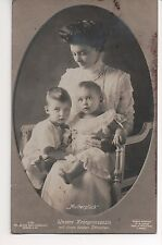 Vintage Postcard Cecile Crown Princess of Germany & Princes