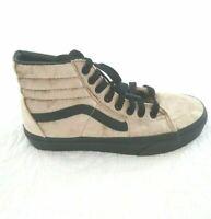 Vans SK8 Hi Velvet Tan Black Classic Skate Shoes Sneakers Mens 4 Womens 5.5