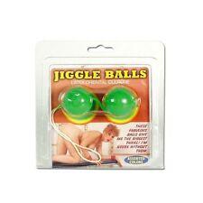 20007 JIGGLE BALLS LATEX GREEN COLOR CHINESE BALLS DUE PALLINE VAGINALI VERDI