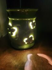 **RETIRED** Scentsy Full Size Flutterby Warmer - Raised 3D Green Butterflies NEW