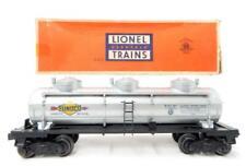 Lionel 6415 Sunoco 3 Dome Tank Car 1953-55 8000 gal diecast trucks vari D W/ Box