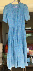 Laura Ashley Floral Summer Tea Dress Cottage, gently worn, Free Shipping