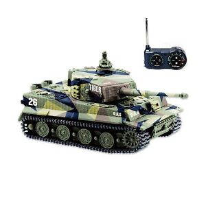 BlueFit German Tiger I Panzer Tank with Remote Control, Battery, Light, Sound...