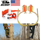 Tree Climbing Tool With Seat belt Pedal Non-Slip for Overhead Work Foot Hook