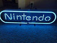 Nintendo Neon Vintage Rare Display Sign Working Perfectly Model NESM04RB