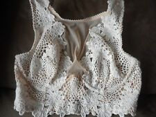 32DD VICTORIA SECRET DREAM ANGELS WHITE FLORAL LACE HIGH-NECK UNLINED BRA NWT