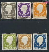 Island 63-68 (kompl.Ausg.) postfrisch 1911 Sigurdsson (9077391