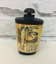 Antique Collectible Bone Erotic Carved Snuff Bottle 古董鼻烟壶 Sweetheart Tear Drops.