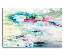 Leinwandbild 120x80cm auf Keilrahmen abstrakt,aquarell,See,Rosen,pastell