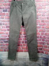"Prana Womens Corduroy Pants 12 Trinity Cord Gray Organic Cotton Long Inseam 33""L"