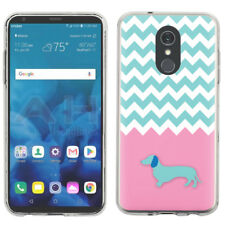 Slim-Fit TPU Protector Phone Case For LG Stylo 4 - Chevron/Dachshund/Puppy