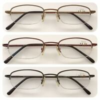 A28 Superb Quality Semi Metal Frame Reading Glasses/Spring Hinges/Classic Style