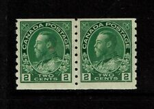 Canada SC# 128 Pair Mint Light Hinged / Tiny Dry Gum Spot on Left Stamp - S3506