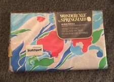 NEW Vintage Wondercale Springmaid Bed Linens Double Flat Sheet Flowers 70s