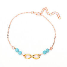 Charm Ankle Chain 8Shape Turquoise Simple Barefoot Foot Jewelry Gift ForWomen SR