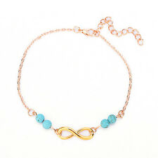 Charm Ankle Chain 8shape Turquoise Simple Barefoot Foot Jewelry Gift for Womenhg Gold