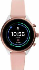 Fossil Sport Touchscreen SmartWatch Blush Silicone Strap 41mm FTW6022 SEALED!